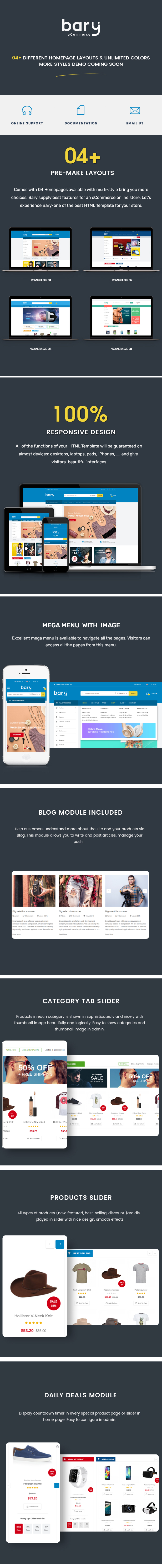 Bary - Responsive eCommerce HTML Template - 1