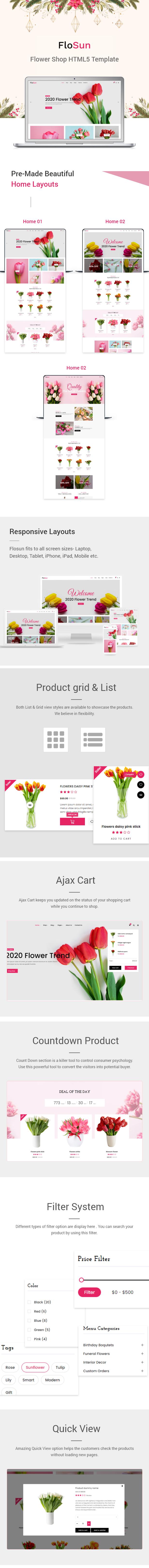 FloSun - Flower Shop HTML5 Template - 1