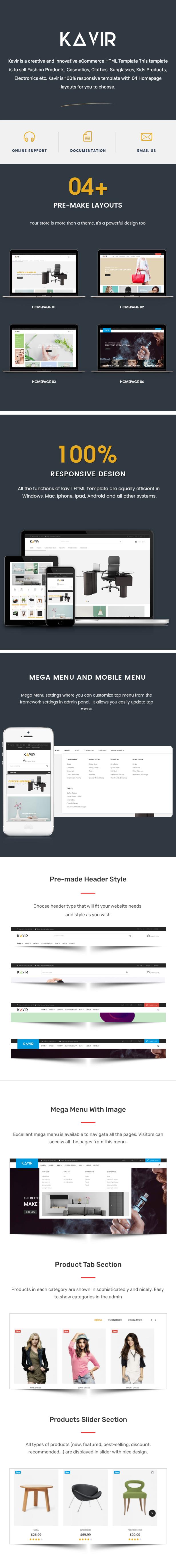 Kavir - eCommerce HTML Template - 1