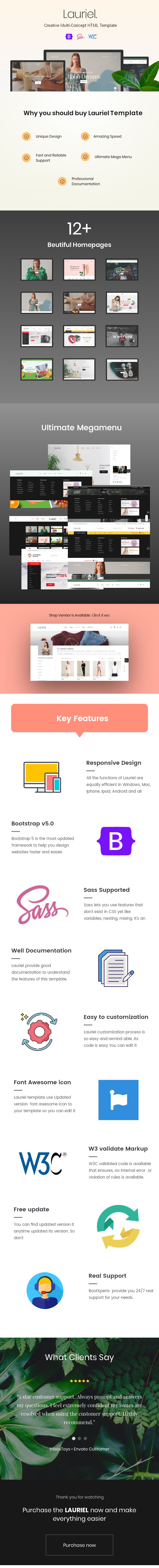 Lauriel - Multipurpose eCommerce HTML Template - 1