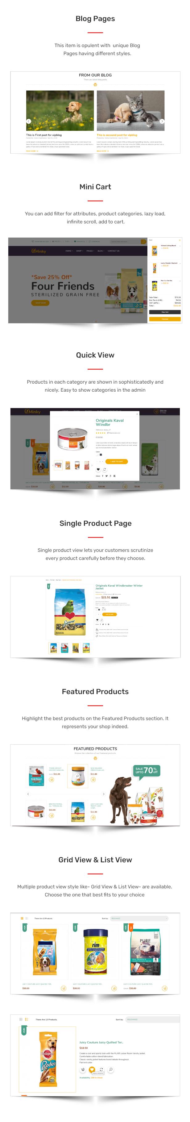 Minky – Pet Food Responsive eCommerce HTML5 Template - 2